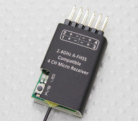 2.4Ghz A-FHSS Compatível 4CH Micro Receptor (Hitec Minima compatível)