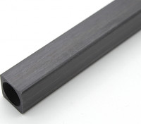 Tubo de fibra de carbono Praça 10 x 10 x 150 mm
