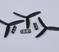 Hobbyking ™ 3 pás da hélice 5x3 Preto (CCW) (3pcs)