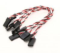 Super Flex 26AWG Silicone Servo Leads para a transferência de vibração mínima ao FC (JR) 130mm 5pcs / bag
