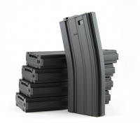 Rei de Armas 300 rodadas revistas de metal wind-up para M4 / M16 AEG (preto, 5pcs / box)