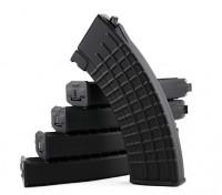 Rei de Armas 600rounds revistas Padrão Waffle para Marui AK AEG (Black, 5pcs / box)