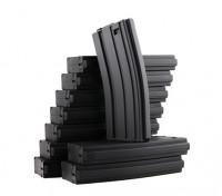 Rei de Armas 120rounds revistas para a série Marui M4 / M16 AEG (preto, 10pcs / box)