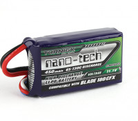 Turnigy nano-tecnologia 450mAh 3S 65C Lipo (E-flite Compatível Lâmina 180CFX EFLB4503SJ30)