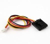 200 milímetros 5 Pin Molex / JR a 3 Pin Branco Connector chumbo