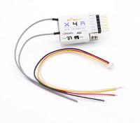 FrSky X4R 4 canais 2.4Ghz ACCST Receiver (w / telemetria)