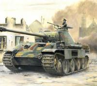 Italeri 1/56 Kit Escala alemão Sd.Kfz.171 Panther Ausf.A Plastic Modelo