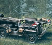 Italeri 1/35 Escala 4 x 4 Ambulance Kit Jeep Modelo plástico