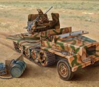 Italeri 1/35 Escala SWS Com Kit Flak 43 Plastic Modelo