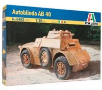 Kit Italeri 1/35 Escala AB 40 Autoblinda Plastic Modelo