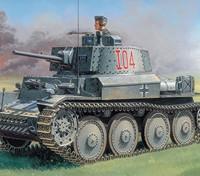 Italeri 1/35 Escala PZ.KPFW. 38 (T) Ausf. Kit F Modelo plástico