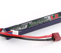 Turnigy nano-tecnologia 1200mAh 2S 25 ~ 50C Lipo AIRSOFT Pack (T-Connector)