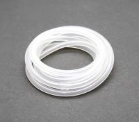 tubo de combustível de silício (1 mtr) Branco para Nitro Motores 4x2.5mm