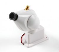 Sistema de Câmera com transmissor 32CH 5.8GHz e Pan e Tilt Função (Branco) HD FPV