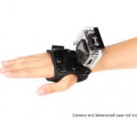 Luva suporte ajustável para GoPro ou Turnigy Cams Ação (Small)
