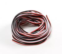 26AWG Servo fio 5mtr (vermelho / preto / branco)