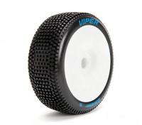 LOUISE B-VIPER 1/8 Escala Buggy pneus de compostos macios / White Rim / Mounted