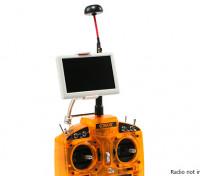 5 polegadas 800x480 5,8 GHz O piloto pequeno HD FPV monitor com cogumelo Antena e Bracket