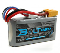 Turnigy Parafuso 850mAh 3S 11.4V 65 ~ 130C High Voltage Lipoly Pack (LiHV)