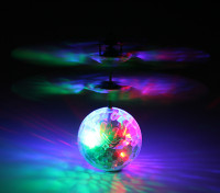 Voar LED piscando Cristal bola do disco com carregamento USB chumbo