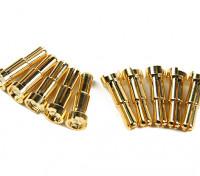4-5mm Universal Masculino banhado a ouro Primavera Connector - Low Profile (10pcs)