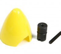 Cox 0,049 / 0,051 Plastic Spinner and Engine Hub (amarelo)