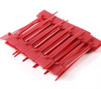 Cintas 120 milímetros x 3 milímetros vermelho com marcador Tag (100pcs)