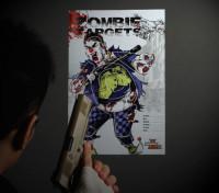 Zombie palhaço papel de destino (50 folhas)