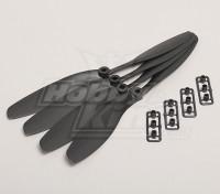 GWS Estilo Slowfly Hélice 8x4.5 Preto (CW) (4pcs)