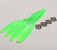 GWS Estilo Slowfly Hélice 11x4.7 Green (CW) (4pcs)