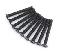 Machine Head metal plana Hex Screw M4x34-10pcs / set