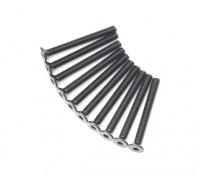 Machine Head metal plana Hex Screw M4x38-10pcs / set