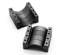 Preto anodizado CNC Semicircunferência Alloy tubo braçadeira (incl.screws) 20 milímetros