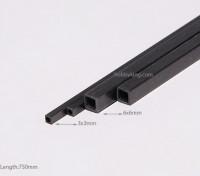 750x3mm tubo de fibra de carbono Praça