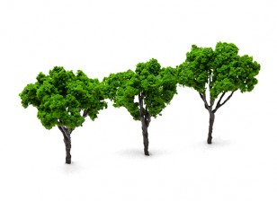 HobbyKing™ 80mm Scenic Wire Model Trees (3 pcs)