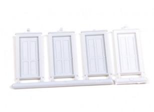 Micro Engineering HO Scale 4 Panel Doors 4pcs (80-063)