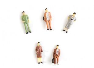 1/87th HO Scale Assorted Citizen Miniature Figures 5pcs
