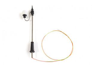 1/100 Scale Working Classic Oval Single Street Lantern  1pc