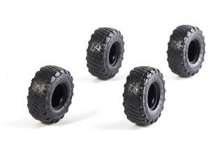 Big Block Tires Ver 3 (4 pcs) - OH35P01 OH35A01 OH32A02 1/35 Rock Crawler Kit