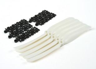 8040 Eléctrico Hélices (branco) 5pcs / bag