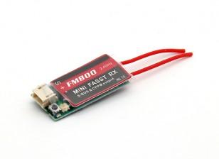 FM800 Super Mini FASST receptor 8ch Compatível com SBUS / CPPM