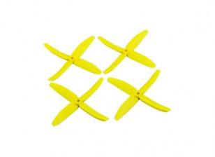 "Dalprops ""Indestructible"" PC 5040 4-Blade Props Amarelo (CW / CCW) (2 pares)"