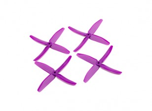 "Dalprops ""Indestructible"" PC 5040 4-Blade Props roxo (CW / CCW) (2 pares)"