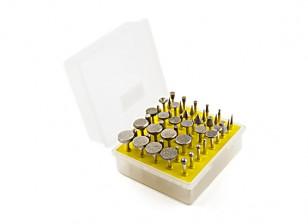 50PCS / set diamante moagem cabeça rebolo moedor de Bur para ferramentas Dremel abrasivo Rotary