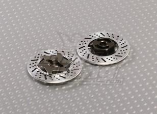 1/10 Adaptadores de roda do freio de disco 12 milímetros Hex (Titanium Finish - 2pc)