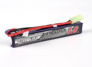 Turnigy nano-tecnologia 1200mAh 2S 15 ~ 25C Lipo AIRSOFT pacote