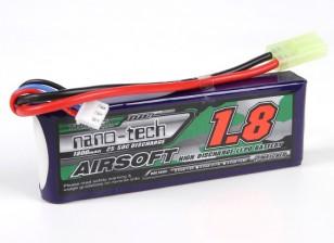 Turnigy nano-tecnologia 1800mAh 2S 25 ~ 50C Lipo AIRSOFT pacote