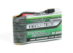 Turnigy nano-tecnologia 750mAh 1S 35 ~ 70C Lipo Pack (Fits Nine Eagles Solo-Pro 180)