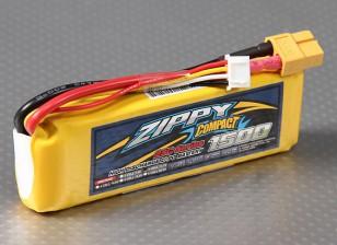 ZIPPY Compact 1500mAh 3S 25C Lipo pacote