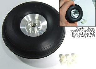 Escala hub liga 4.0inch roda de borracha